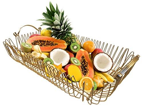 Panier à fruit Metal Or, cm 54 x 30 x 12