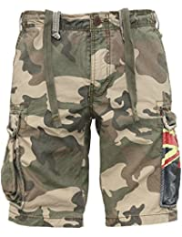 JET LAG Cargo Shorts YC 22 army green camouflage Australien