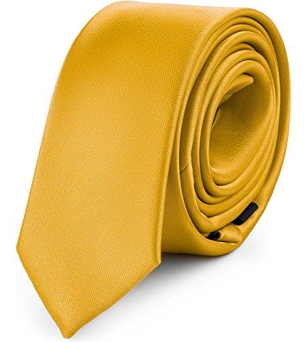 Ladeheid Herren Schmale Krawatte SP-5 (150cm x 5cm, Honig) -