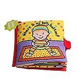 Baby Spielzeug Entdeckungsbuch Hosim- hochwertiges Kleinkindspielzeug Tuch Buch- Baby Buch zur Stärkung der Eltern - ab 0 Monate (5 Seiten)