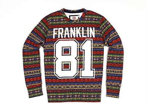 Franklin and Marshall, Uomo, Fleece, Cotone, Felpe, Blu, L EU