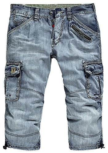 timezone-herren-3-4-cargo-jeans-shorts-25-10009-miles-loose-fit-fresh-blue-wash-w40