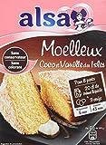 Alsa Préparation pour Moelleux Coco Vanille 490 g - Lot de 3