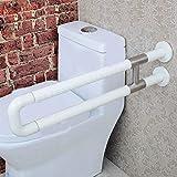 NAERFB Handlauf Barrierefrei WC Nylon Armlehne Badezimmer Waschbecken Sicherheit Handlauf Handläufe behinderte ältere Menschen, 75 cm, Weiß