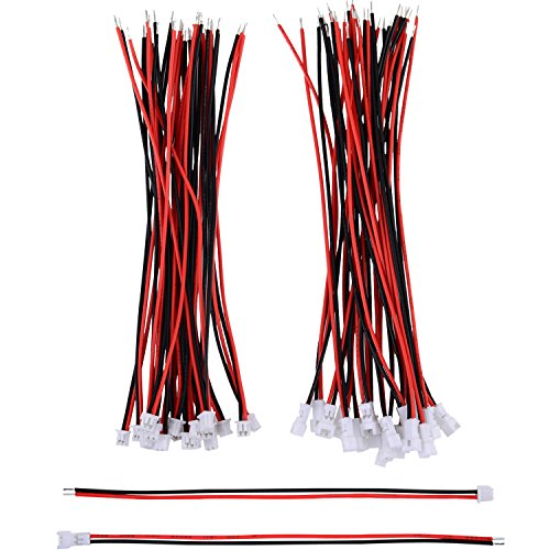 20 Paare 1,25 mm JST 2 Pin Mikro Elektronik Männlichen und Weiblichen Steckverbinder Stecker mit 10 cm Draht Kabel 2 Pin Stecker