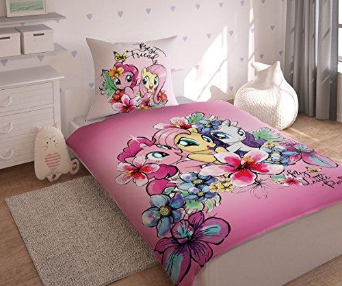 Hasbro My Little Pony Bettwäsche Bettbezug Single, Baumwolle, Blau, 160 x 200 cm, 2-Einheiten