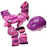 Cosmic Kinder Skate Schutz Set Inline Skates Inliner Helm Protektoren Schoner Pink/Purple C10-C13