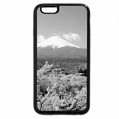 6S-Cover per iPhone Plus, iPhone 6 Plus Case & bianco (nero), motivo Monte fuji