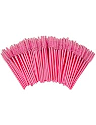 Shintop 100 Stück Einweg Wimpernbürste Set, Wegwerf Wimpern Mascara Bürste (Pink)