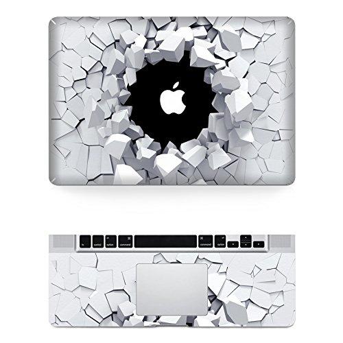 "Preisvergleich Produktbild decalshut Holz Muster Aufkleber Abnehmbare Schützende Haut Aufkleber für Apple Macbook Aufkleber, wall 3, MacBook Air 13.3"" inch (A1369/A1466)"