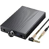 Amplificador de Auriculares Amp de Headphone Hi-Fi con Conector de Audio de 3.5 mm Amplificador Portátil Recargable de Auriculares para MP3 iPods Móviles Laptops Reproductores Portátiles de CD