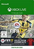 Xbox Live - Gold-Mitgliedschaft 12 Monate mit FIFA 17 Special Edition Legends Kits DLC [Xbox Live Online Code]