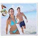 Regalo Original Toalla para Dos de Microfibra para la Playa Personalizada con tu Foto 160x180cm