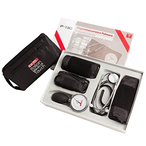 PALM Sphygmomanometer P-130 manuelles Blutdruckmessgerät 3 Manschetten und Stethoskop