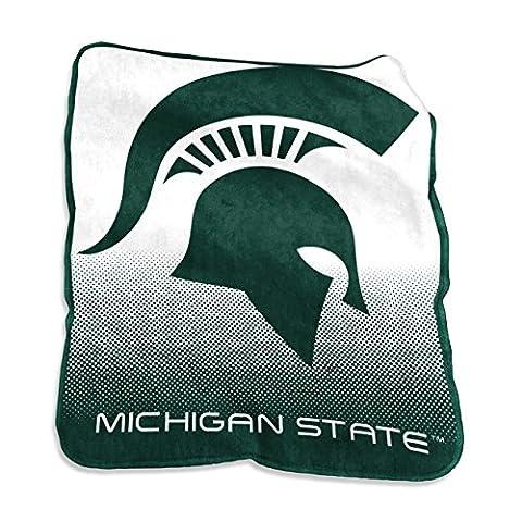 NCAA Michigan State Spartans Unisex Raschel Throwraschel Throw, Hunter, N/A