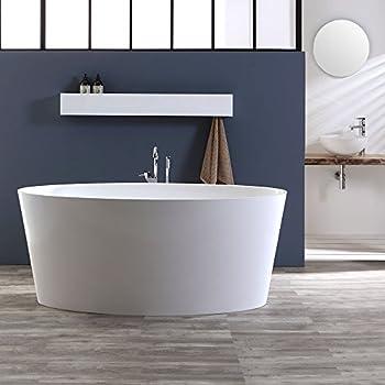 Vasca da Bagno Design Freestanding 150x70x56 cm in Marmo ...