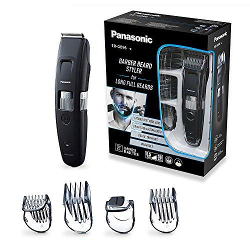 Panasonic Bart-/Haarschneider ER-GB96-K503 mit kammförmigem Klingendesign,  mit 58 Schnittlängen, präzise Bartpflege & Haarschnitte, schwarz