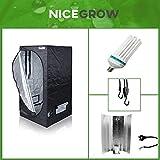 Nice Grow Growset Aufzucht Dark Box 80 Serie Wachstum ESL 200W Komplettset Growbox