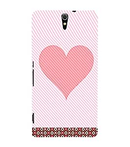 Pink Heart 3D Hard Polycarbonate Designer Back Case Cover for Sony Xperia C5 Ultra Dual :: Sony Xperia C5 E5533 E5563