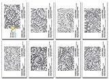 16Pezzo 10,2x 15,2cm Camaleonte Pattern Color Cards