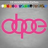 Generic Audi Aufkleber Dope 20x11cm Ringe Autokleber VW Tuning JDM OEM Car Meins Sticker in 18 Farben