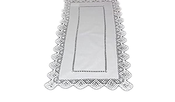 Amazing Table Runner Table Cloth White Crochet Cottage Style Download Free Architecture Designs Remcamadebymaigaardcom