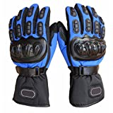 #4: Generic Biker Outdoor Sports Full Finger Riding Motorcycle Armored Gloves Blue XL