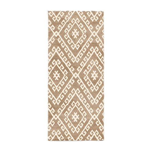 Alfombra pasillera étnica beige de poliéster de 80 x 180 cm Vitta - Lola Derek