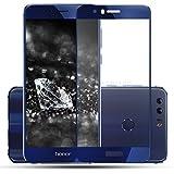 Huawei Honor 8 4G : Protection d'écran FULL Cover en verre trempé - Tempered glass Screen protector 9H premium / Films vitre Protecteur d'écran Honor8 smartphone 2016 contour bleu - Version intégrale avec accessoires - Prix découverte Accessoires XEPTIO