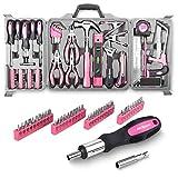 Apollo - Maletín de 71 herramientas de bricolaje básico, color rosa