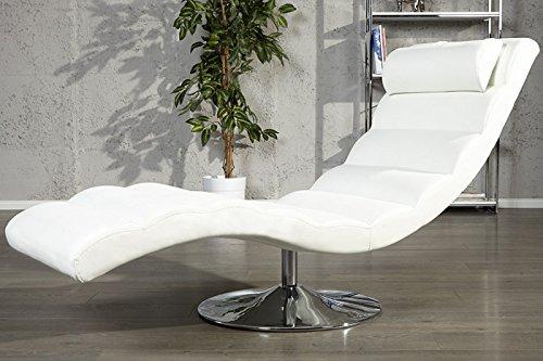 DuNord Design Relaxliege Recamiere LIGNANO Design Liege Liegesessel Chaiselounge (weiss)