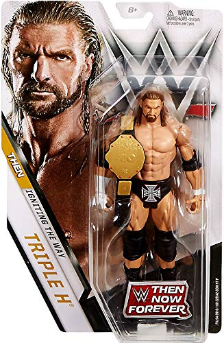 Mattel WWE Then Now Forever Limited Edition Triple-H HHH Action Figure (with WHC Belt), Mehrfarbig, FNJ94 (Wwe Action-figuren Triple H)
