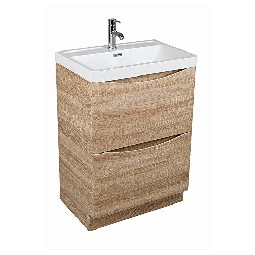 Peace-600mm-Waschtischunterschrank-mit-Waschbecken-Eiche