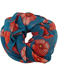 Tube Scarf Ribbed Grooved Flower Stars