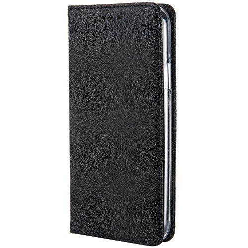 HARRMS iPhone 6 Plus,iPhone 6s Plus Handyhülle Handytasche mit Geldbörse mit Kredit Karten Fach Geldklammer Leder Hülle Handyfach Magnet Schutzhülle, Schwarz
