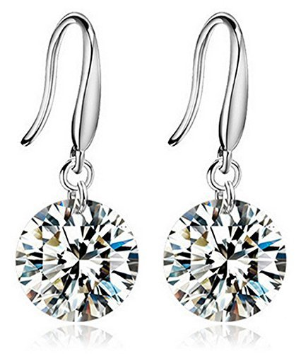 Karatcart Silver Crystal Dangle Earrings For Women (2.00 Cm)