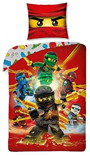 Preisvergleich Produktbild Lego Ninjago Kinder Bettwäsche Set Wendebettwäsche Baumwolle 140 x 200 und 70 x 90