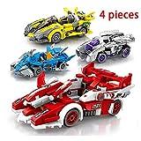HLDX 4-teilige Auto Mobilisierung Serie Rennwagen Kleine Partikel Bausteine   Spielzeug Kinder Puzzle Montage Männer Und Frauen Geburtstagsgeschenke