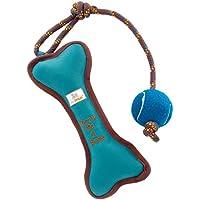 leo.toys Hundespielzeug zum Werfen und Zerren aus Robustem Nylongewebe, 1 Quietscher, schwimmfähig