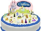 Vorgeschnittene und Essbare Disney Cinderella Szene Kuchen Topper (Tortenaufleger, Bedruckte Oblaten, Oblatenaufleger)