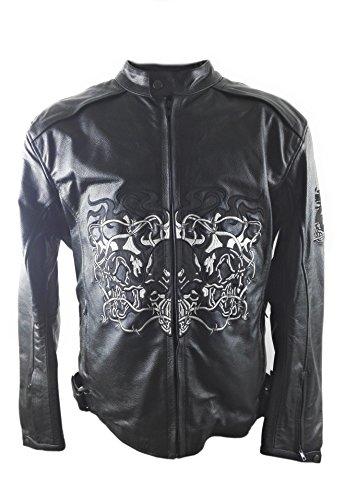 Preisvergleich Produktbild KENROD Motorradjacke Lederjacke Motorradjacke Motorrad Lederjacke Farbe Schwarz Größe XXXL