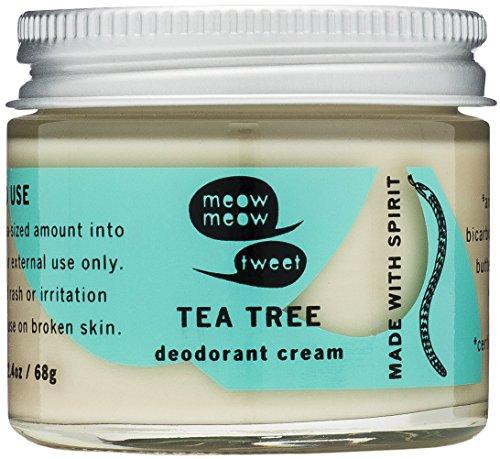 Meow Meow Tweet Tea Tree Deodorant Cream 2.4oz by Meow Meow Tweet