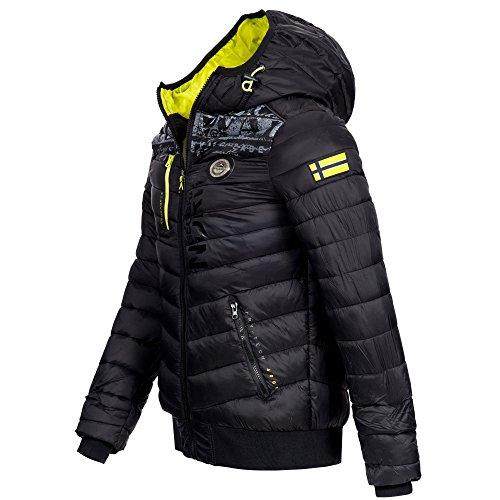 Geographical Norway BOTICAL Herren Winterjacke Jacke Outdoor warm gefüttert Gr. S-XXL Schwarz