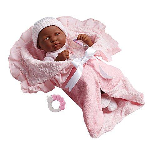 Berenguer Spielpuppe Babypuppe Puppe 39 cm mit reichlich Zubehör
