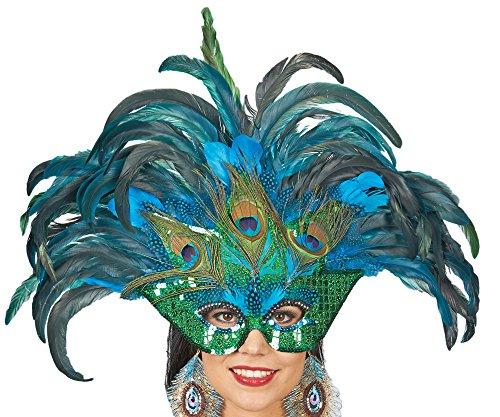 Kostüm Kopfschmuck Vogel - Pfauen-Maske