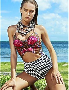 TIANLU Bikini Sexy Conjuntos Bañador de Adelgazamiento La Moda Femenina Trajes de Baño de una Pieza Estilo Femenino...