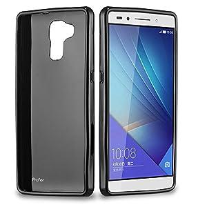 Huawei Honor 7 Hülle, Profer TPU Schutzhülle Tasche Case Cover Ultradünn Kratzfest Weich Flexibel Silikon Bumper für Huawei Honor 7