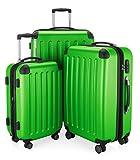 HAUPTSTADTKOFFER - Koffer Set Spree Trolley Gepäck Hartschale matt, Apfelgrün