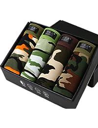 Smile YKK 4pcs Homme Boxer Short Caleçon Camouflage Respirant Model Elastique