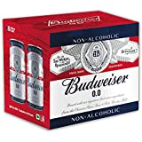 Budweiser 0.0 Non Alcoholic Beer Pack of 6, 6 X 330ml